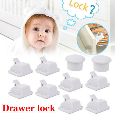 Invisible Magnetic Baby Child Pet Cupboard Proof Door Drawer Safety Lock Catch