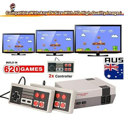 620 in 1 games Classic Mini Console for NES Retro with Gamepads For SNES AU