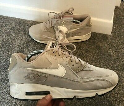 Details about Rare Nike Air Max 90 Leather Premium Trainers BlackGreyRed UK 8 #F1