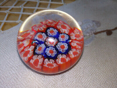 "Beautiful Mid Century ""Murano Glass Millefiore"" Small Paperweight For Sale"
