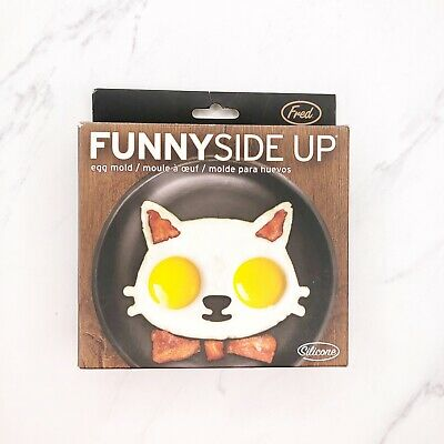 New Fred and Friends Sunny Side Up Kitty Cat Kitten Silicone Egg Corral Mold