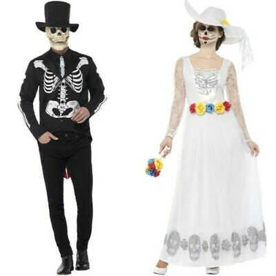 Couples Bride Groom Day of the Dead Costumes