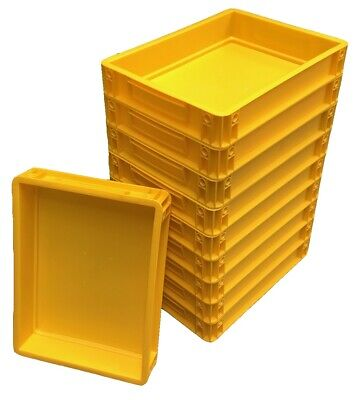 10 x Plastic Stacking Food Grade 7L Domestic Commercial Pizza Dough Bakery Trays