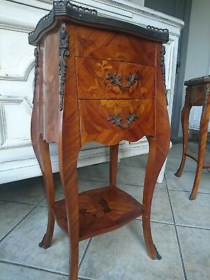 Side Table Console Table Baroque Rococo Louisxv Small Table with Inlaid