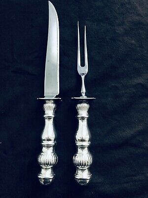 Hunt Silver Co. Sheffield England Sterling Silver  Fork and Knife Carving Set