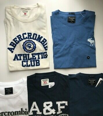 Abercrombie & Fitch 100% Cotton Short Sleeve Men XS Boys 9-10 Logo Graphic NWT