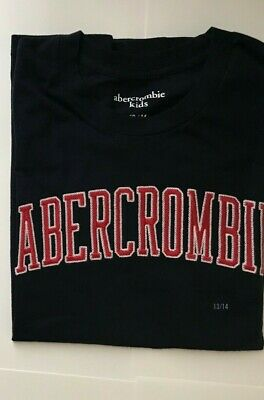 Abercrombie & Fitch 13-14 Boys Cotton Short Sleeve Logo Graphic Tee T Shirt NWT