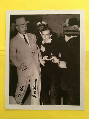 Det. JAMES LEAVELLE > SIGNED > 8X10   Photo > Cuffed To  >  LEE HARVEY OSWALD !