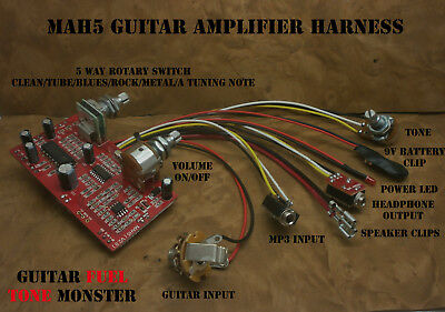 9V CIGAR BOX Guitar Amp Board & Wiring Harness Now With