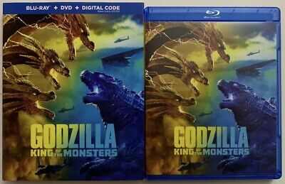 Godzilla King Of The Monsters 2019 Blu-Ray & DVD w Slipcover Canada NO DC LOOK