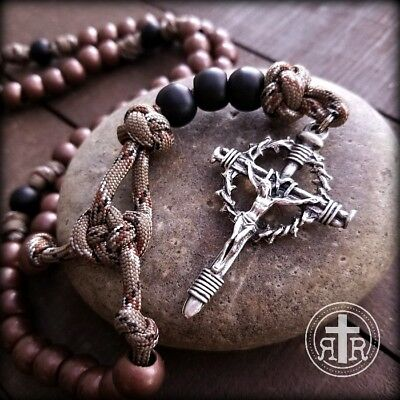 Copper Paracord Military Rosary - Rattlesnake Camo Rosary
