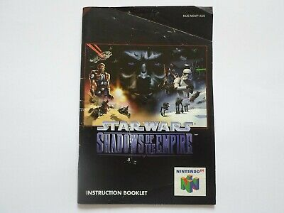 STAR WARS : SHADOWS OF THE EMPIRE - Instruction Booklet Manual - Nintendo 64 N64