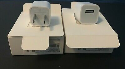 2 Pk USB Power Wall Cube Original OEM Charger Adapter Charging for Apple iPhone