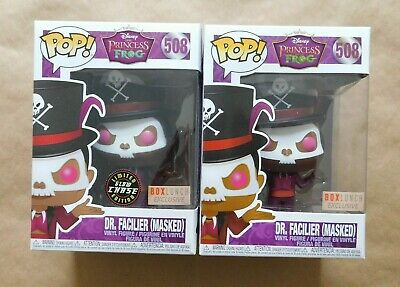 Funko Pop! Dr. Facilier Masked glow CHASE common lot Box Lunch exclusive #508