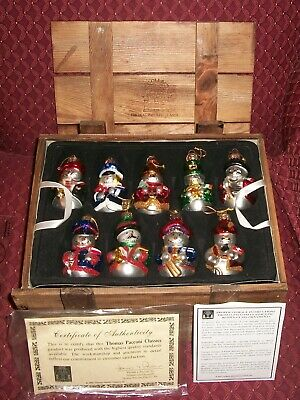 Thomas Pacconi Christmas Ornaments 17 Blown Glass Snowmen Around The World 2003