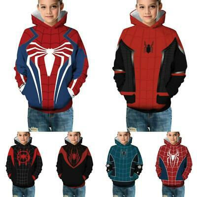 Kids Boy Girl 3D Print Avengers 4 Endgame Hooded Sweatshirt Pullover Sports Coat