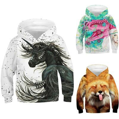 Kids Boys Girl Novelty Creative 3D Print Hooded Sweatshirt Pullover Running Tops