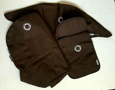 Bugaboo Cameleon 3 Piece Canvas Fabric Set In Brown/Color
