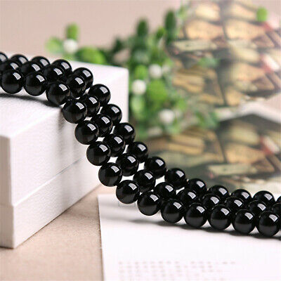 Natural Black Onyx Loose Beads Making Jewelry 15 inches Stone Lots Strand