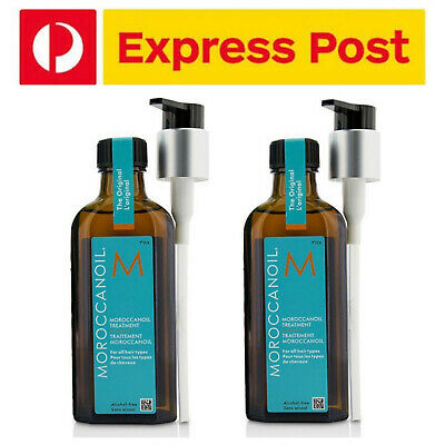 Moroccanoil Moroccan Oil Original Treatment 100ml with Pump x 2 EXPRESS POST