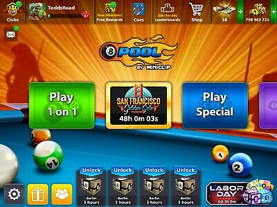8 BALL POOL Account [7 Billion Coins + ALL Level 4+