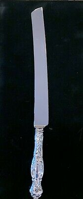 Frontenac International Sterling Bread or Wedding Cake Knife extra large 12""