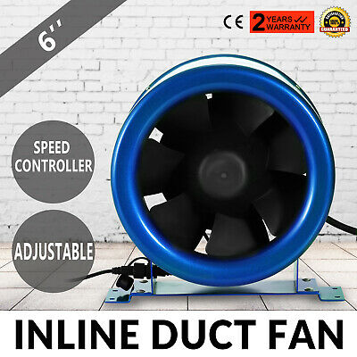 Ventilatore Tubo Scarico 150mm Duct Fan Mixed Flow Hydroponic Speed Controller