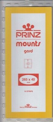Prinz/Scott Clear Stamp Mount Strips 265x40mm For US Postal People Pack Of 10