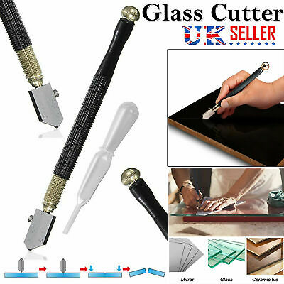 Professional Glass Cutter Oil Lubricated Cutters With Grip Carbide Precision