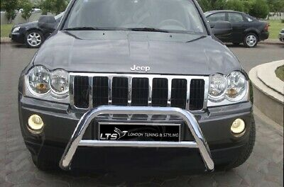 Jeep Grand Cherokee Chrome Nudge A-Bar, Stainless Steel Bull Bar 2005-2010