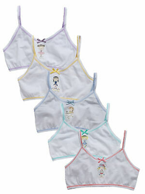 Top Class Pack Of 5 Mon-Fri Dow Underwear Crop Tops In White Size 3-4 Years