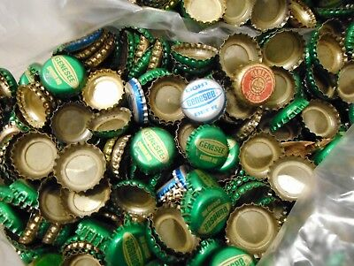 Lot Of 1000 Vintage Genesee Beer Caps 5 Lbs Greens & Few Reds &Fewer Blues