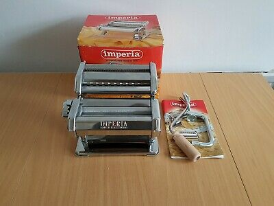 Imperia Italian Double Cutter Pasta Machine SP150 Great Condition Never Used