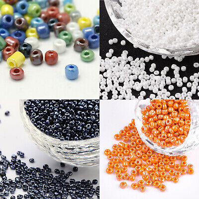 GLASS SEED BEADS SIZE 11/0 (2mm) OPAQUE 50g CHOICE OF COLOURS (UK STOCK)