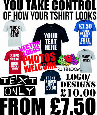 Custom T shirt Printing Mens Personalised Tops With Text Prints