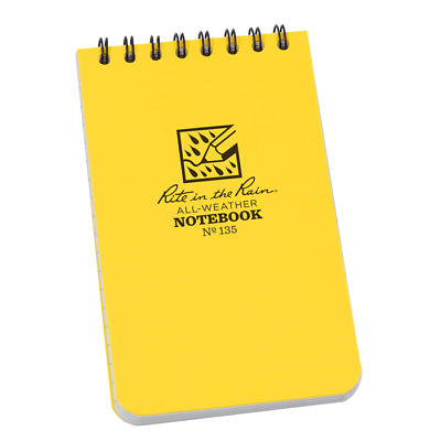 SNUGPAK A6 ORANGE ALL WEATHER WATER RESISTANT GRID /& LINED NOTEBOOK NOTEPAD