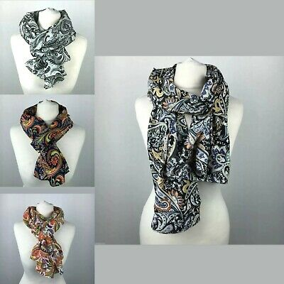 Women Ladies Long Pretty Floral Pattern Print Shawl Scarf Scarf Stole
