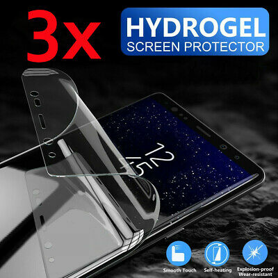 3pcs Screen Protector Silicon Soft Hydrogel Full Coverage Invisible Cover Edge