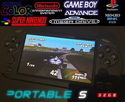 RES PORTABLE S X9S Handheld Video Retro Game Console Player SNES PS1 Megadrive