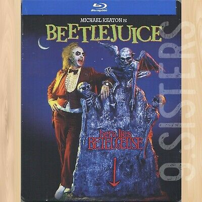 Tim Burton BEETLEJUICE Limited Edition STEELBOOK BLU-RAY Michael Keaton     0930