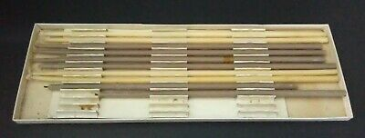 Vintage Colonial Flower Taper Candles 10 Ct Tan Beige Cream Cape Cod Mass MA