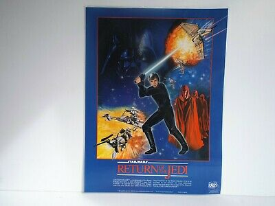 """1983 Star Wars R.o.t.j. Icarus Postermat Laminated 16"""" X 12""""  Excellent  (B35)"""