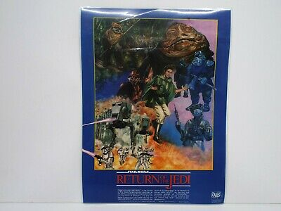 """1983 Star Wars R.o.t.j. Icarus Postermat Laminated 16"""" X 12""""  Excellent  (B36)"""
