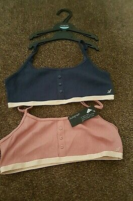 Marks and Spencer Girls 2 Pack Crop Bra Tops age 13 years chest 36 inch