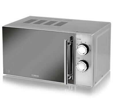 Tower Manual Solo Microwave with 5 Power Levels, 800 W, 20 Litre, Silver