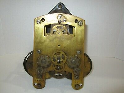 Antique Seth Thomas Time Recorder Clock Movement With Mounting Bracket