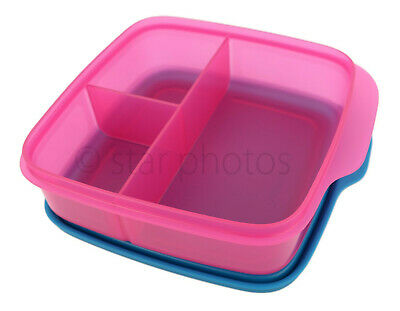 Tupperware Lunch It Divided Lunch Container Lunchit in Fuchsia Kiss - NEW!