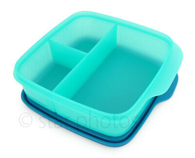 Tupperware Lunch It Divided Lunch Container Lunchit in Paradise Blue - NEW!