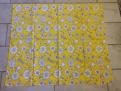 Vintage Yellow Floral Tablecloth Tulips Sunflowers Retro Bright And Bold