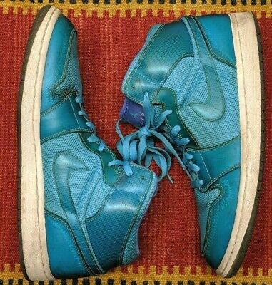 Nike Air Jordan 1 High Top Marine Blue White Purple 364770-401 2009 Size 12 Phat